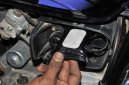 Placing tracker inside the bike tool box